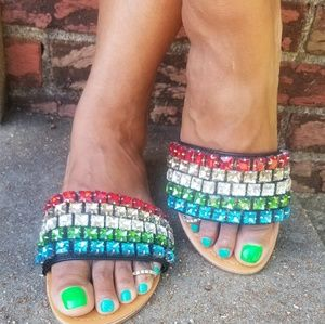 Shoes - Multi Colored Jewels